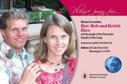 Bob and Kristi Rice – Democratic Republic of the Congo