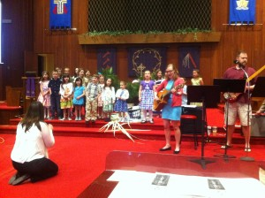 Our Sunday School Children Singing for the Congregation
